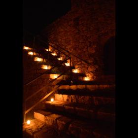 Castillo de Calatrava noche velas