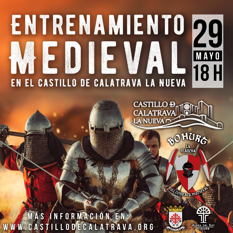 Entrenamiento de Lucha Medieval en el Castillo de Calatrava